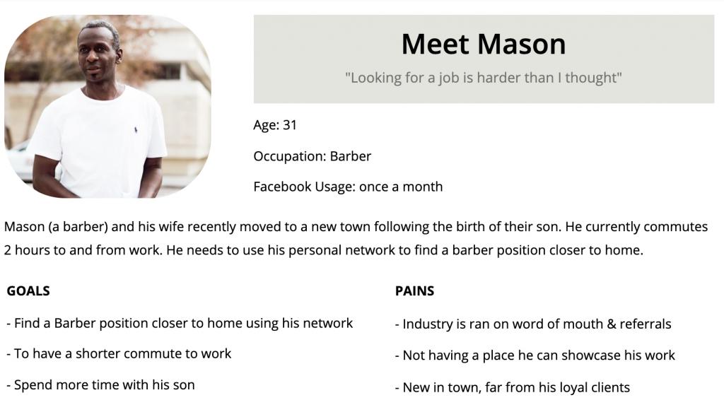 Meet Mason the persona